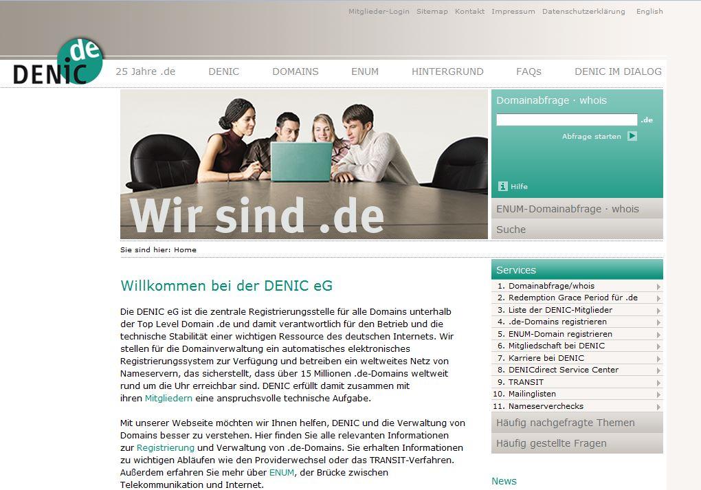 Denic Domain-Abfrage