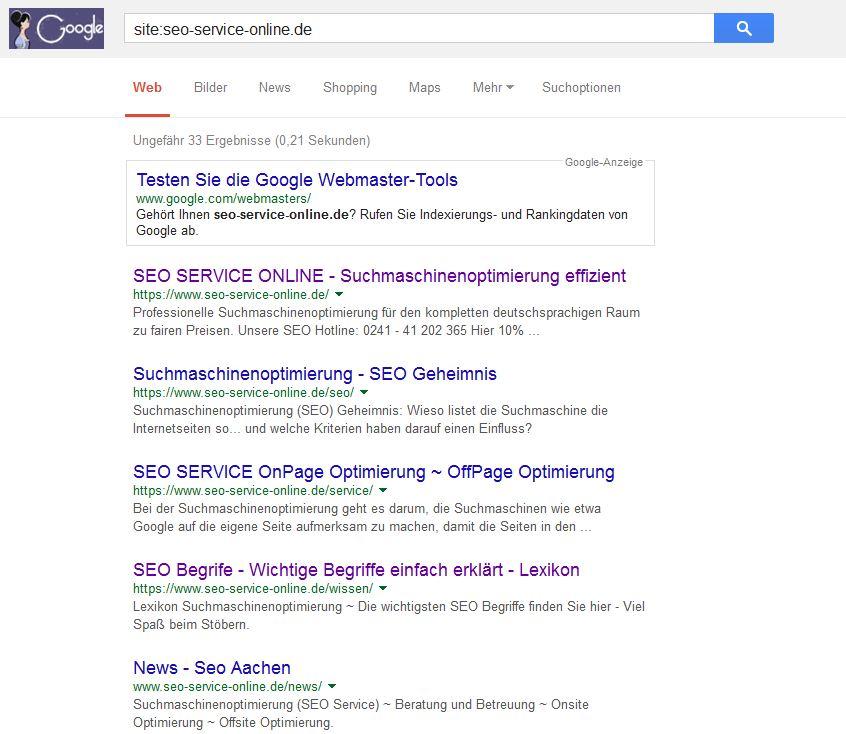 Google Suche Site: